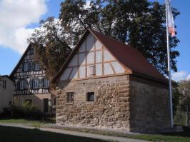 Rohrturm mit dem ehemaligen Gebäude