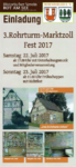 Einladung 3.tes Rohrturm-Marktzoll Fest 2017